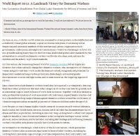 World Report 2012: A Landmark Victory for Domestic Workers