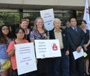 Australia: Union rally for ratification of ILO Convention 189 on Domestic Workers