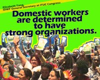 Global: Domestic workers are determined to have strong organizations, says Elizabeth Tang