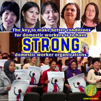 "Global: ""Let us work together and make life for domestic workers change for the better."""