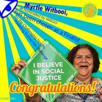 Global:  Myrtle Witbooi has been chosen as a Finalist for the Challenging Norms, Powering Economies challenge