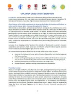 Global Unions call for bold commitments in advancing the Beijing Declaration and Platform for Action and the human rights of women throughout the lifecycle