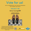 Global: Vote for Project 189 in the Walk Together Prize for Courage