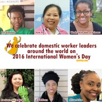 Global: We celebrate domestic worker leaders around the world on International Women's Day