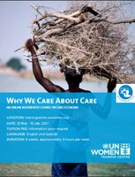 Global: Why We Care about Care - An online moderated course on Care Economy