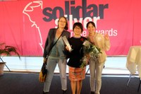 IDWF receives the Silver Rose‬ Award 2015 by ‪SOLIDAR‬ for its success on Organizing International Solidarity