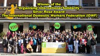 IDWF: Winner of the 'Organising International Solidarity' Silver Rose Award