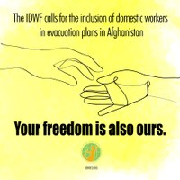In Solidarity: IDWF calls for the inclusion of domestic workers in evacuation plans in Afghanistan