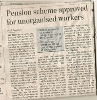 India: Pension scheme approved for informal sector workers