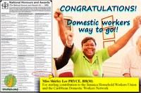 Jamaica: IDWF leader Shirley Pryce receives national award