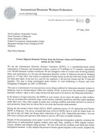 Malaysia: IDWF Petition Letter - Protect Migrant Domestic Worker from the Extreme Abuse and Exploitation, Justice for the Victim!
