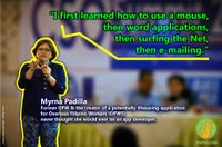 Philippines: Myrna Padilla, a former domestic worker, develops an app to help protect overseas workers