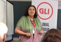 UK: Myrtle Witbooi presenting at the Global Labour Institute on issues surrounding organising informal workers