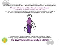 Pakistan: Domestic workers are still struggling hard to get their basic rights to work and live