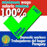 Paraguay: In solidarity with the domestic workers of Paraguay - Paying below the minimum wage is also a form of violence in the workplace!