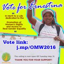 Peru: Vote for Ernestina Ochoa - In Merit to a Life Dedicated to the Promotion of Women's Rights and access to Real Gender Equality