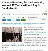 Saudi Arabia: Kusuma Nandina, Sri Lankan Domestic Worker, Worked 17 Years Without Pay