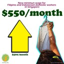 Singapore: New minimum wage for Filipino and Indonesian domestic workers