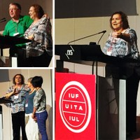 "Switzerland: ""Our work makes all work possible,"" Myrtle Witbooi says at the IUF Congress"