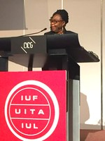 "Switzerland: ""We demand the respect and rights that other workers enjoy!"" Shirley Pryce's speech at the IUF Congress"