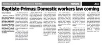 Trinidad and Tobago: Domestic workers law coming, says Baptiste-Primus, Minister of Labour and Small Enterprise Development