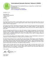 UK: IDWN letter to Mark Harper to protect domestic workers' rights