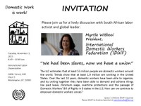 USA: Breakfast Discussion with Myrtle Witbooi, IDWF President
