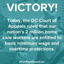 USA: DC Court of Appeals rulled that home care workers are entitled to basic minimum wage