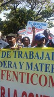 """""""Seguro Social, Patrimonio Nacional"""" Una demanda y marcha laboral"""