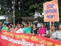 Bangladesh: Cadena humana para protestar contra la tortura en el trabajador doméstico infantil BEETHI