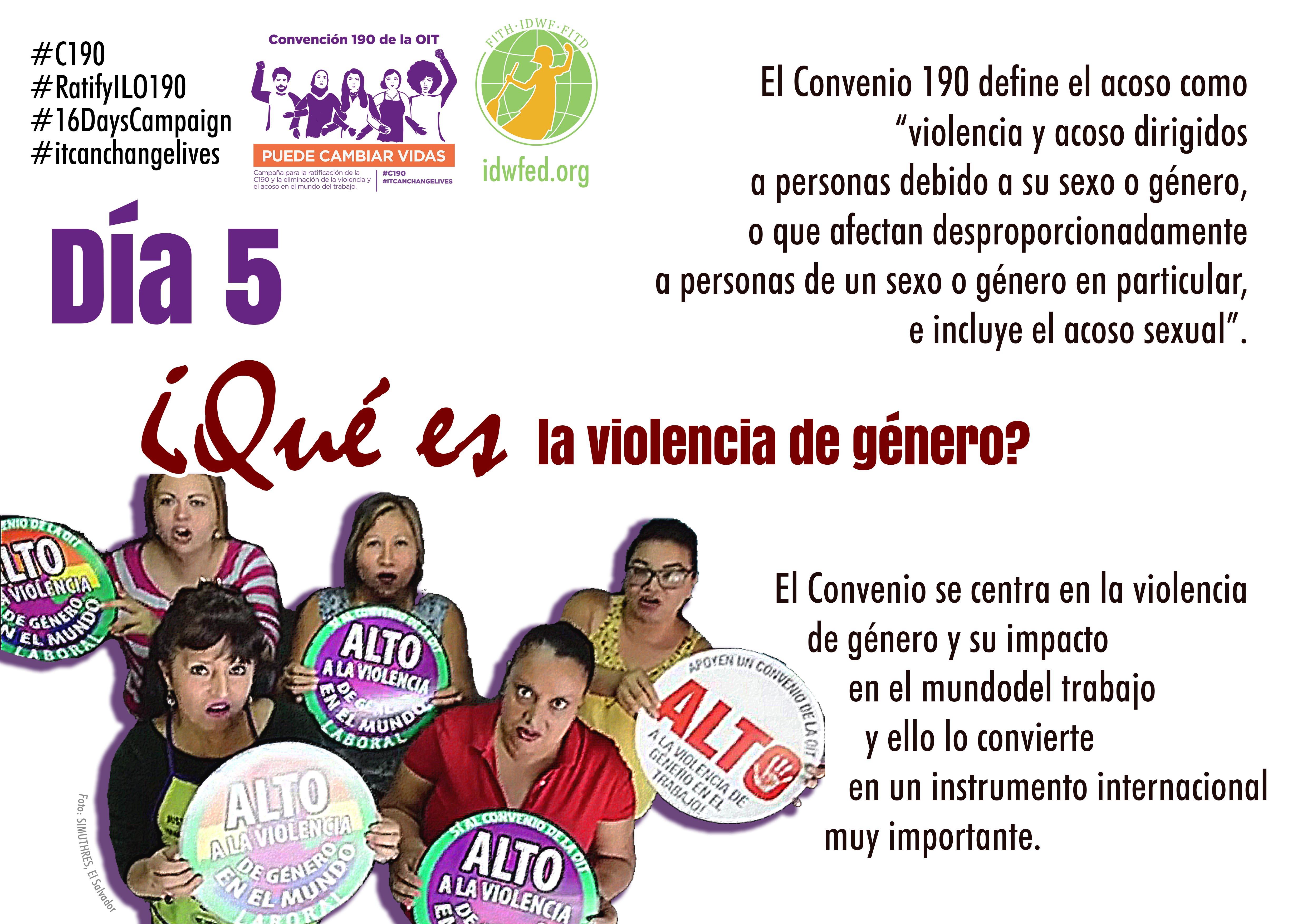 5. ¿Qué es la violencia de género?