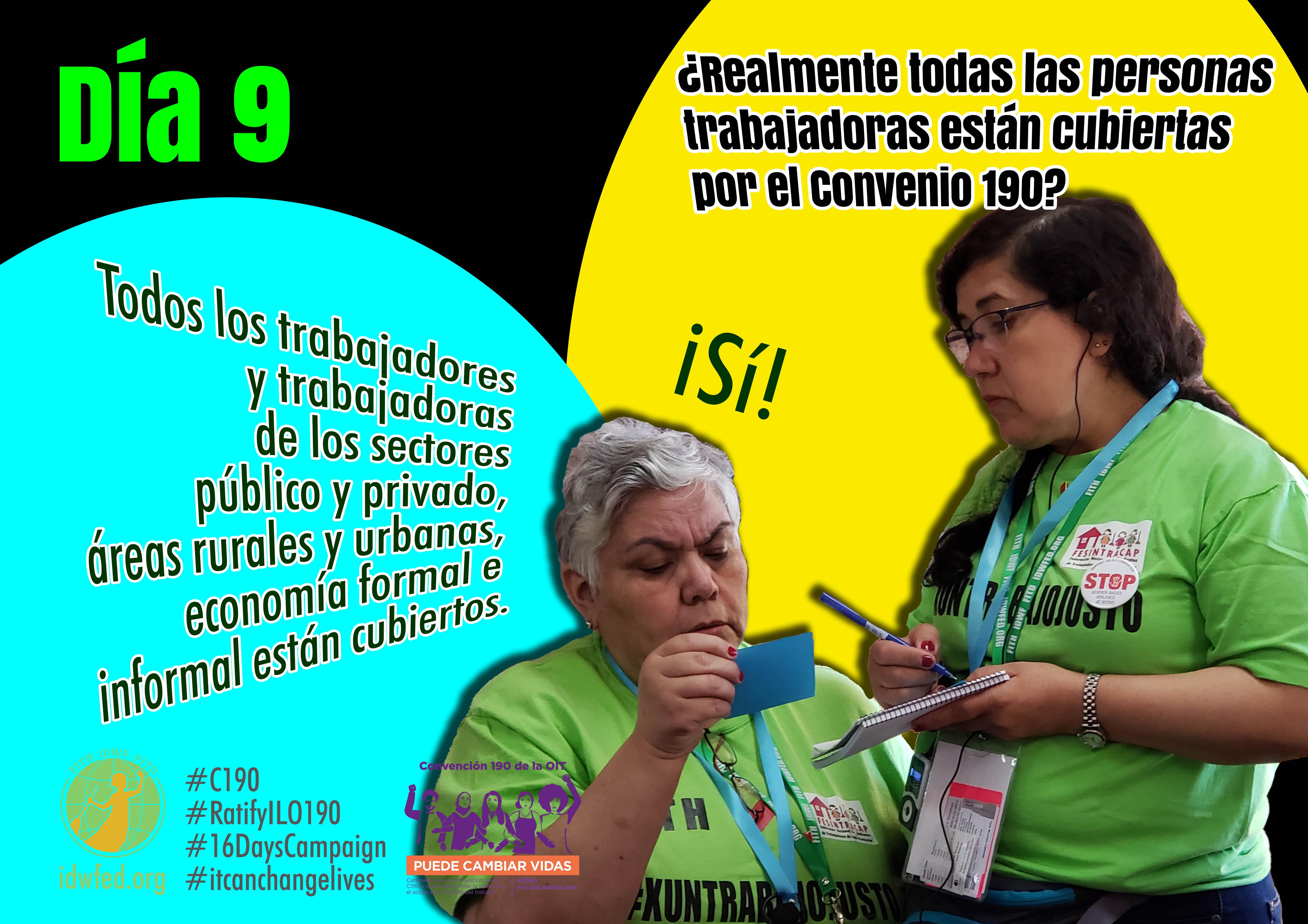 9. ¿Realmente todas las personas trabajadoras están cubiertas por el Convenio 190?