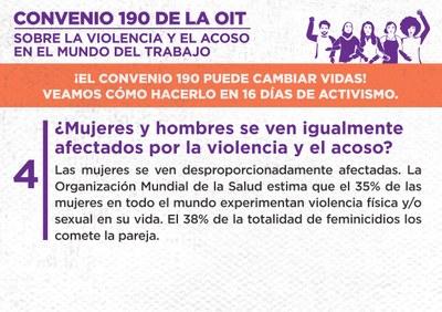 4. ¿Mujeres y hombres se ven igualmente afectados por la violencia y el acoso?
