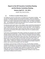 Informe sobre la Reunión del Comité de la Mujer de la UITA, Ginebra, 22 – 24 de abril