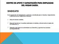 Taller de CACEH para la capacitación de trabajadoras del hogar sobre el registro sindical de trabajadoras y trabajadores del hogar ante la Junta Local de Conciliación y Arbitraje