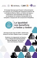 Campaña #TrabajoDigno en la Ciudad de México.