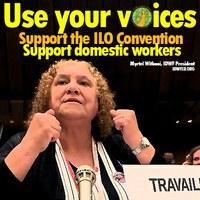 """CIT108: """"¡Usa tus voces, apoya el convenio de la OIT!"""""""