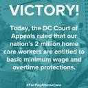 EE.UU.: Los trabajadores de atención domiciliaria ganar protecciones de salarios mínimos y horas extras