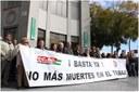 España: Los sindicatos han organizado hoy una concentración en repulsa por esta muerte