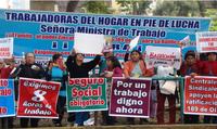 Lima: Trabajadoras del hogar exigieron protección a sus derechos laborales