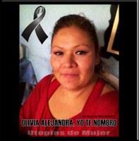 Olivia Alejandra, trabajadora del hogar víctima de la violencia de Estado.