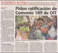 Perú: Piden ratificación de Convenio 189 de OIT