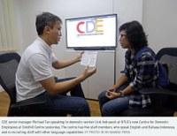 Singapur: NTUC lanza centro para ayudar a los trabajadores domésticos
