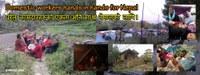 Trabajadores domésticos manos en las manos de Nepal