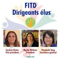 Le Congrès des travailleurs domestiques internationaux élit ses dirigeants - Réélection de Myrtle Witbooi à la présidence et Elizabeth Tang au poste de secrétaire générale