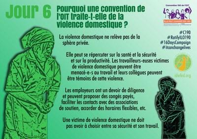 6. Pourquoi une convention de l'OIT traite-t-elle de la violence domestique ?