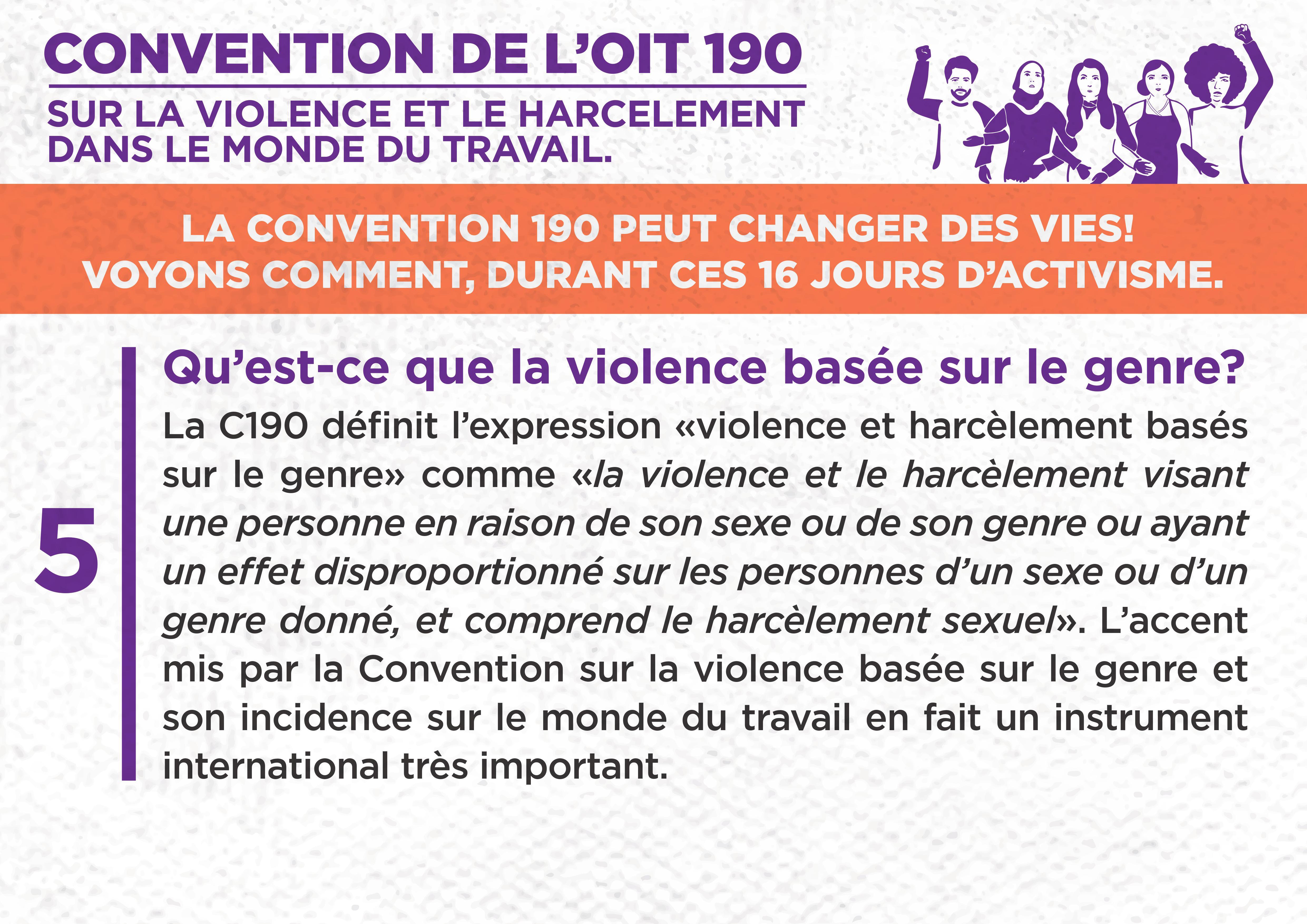 5. Qu'est-ce que la violence basée sur le genre ?