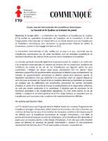 Canada: 16 juin, Journée internationale des travailleuses domestiques Le Canada et le Québec se traînent les pieds