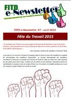 FITD e-Newsletter #7 - avril 2015