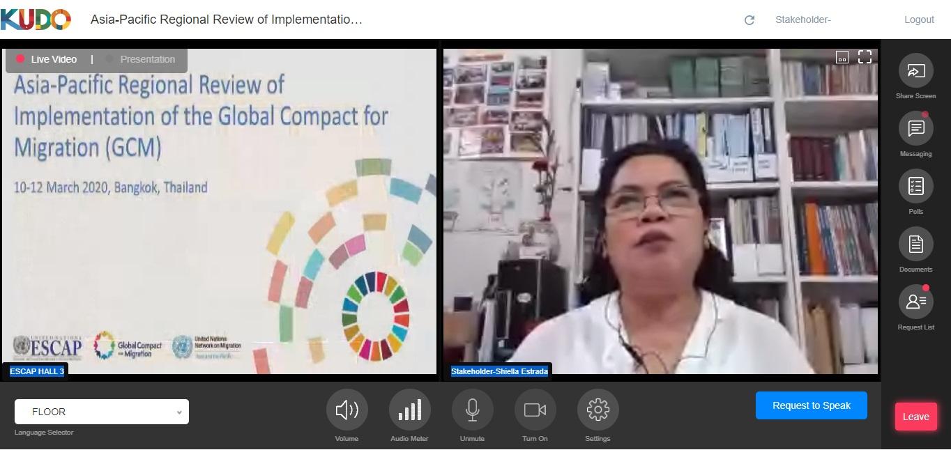 Shiella Estrada spoke at Asia Pacific GCM review on 10 Mar 2021
